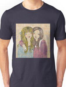 Two Best Friends Portrait Unisex T-Shirt