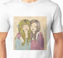 Two Best Friends Portrait Unisex T-Shirt