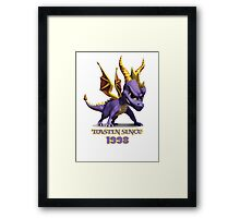 Spyro The Dragon Toastin' Framed Print