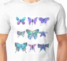 Bright purple and blue watercolour butterflies Unisex T-Shirt