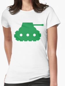 Mini Army Tank Womens Fitted T-Shirt
