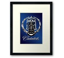 Cadalek in Tardis Blue Framed Print