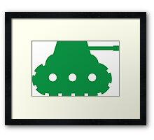 Mini Army Tank Framed Print