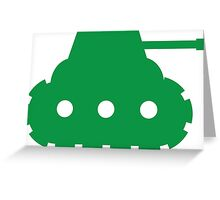 Mini Army Tank Greeting Card
