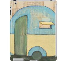 Travelling in a retro caravan iPad Case/Skin