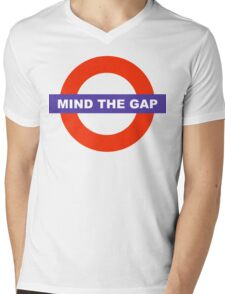 Mind The Gap Mens V-Neck T-Shirt