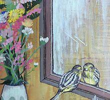 Bird Peering Into A Mirror by Ali J
