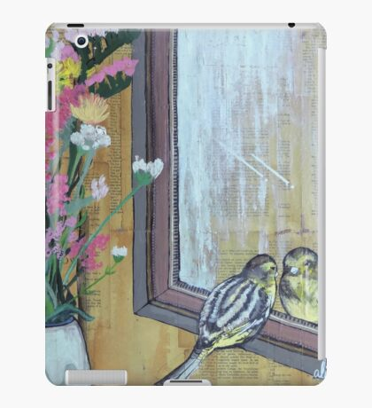 Bird Peering Into A Mirror iPad Case/Skin