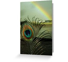 Feather & Rainbows Greeting Card
