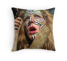 fierce goddess kring Throw Pillow