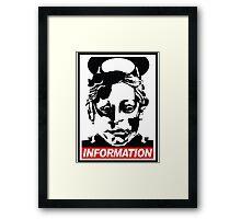 "Heavenly Host ""Information!"" Framed Print"