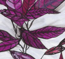 Purple Leaves Sticker
