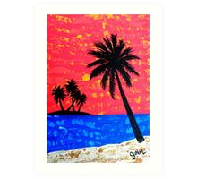 """Island Seascape-Coral"" Art Print"