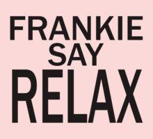 Frankie Say RELAX - BLK Kids Tee