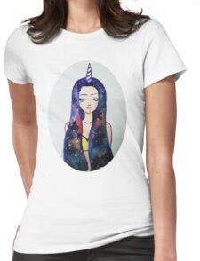 Unicorn Galaxy Womens Fitted T-Shirt