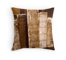 Tattered Books Throw Pillow