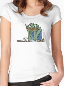 Stress Pepe Women's Fitted Scoop T-Shirt