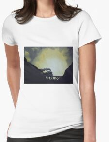 Last Train Womens Fitted T-Shirt