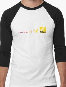 Nikon vs Canon Men's Baseball ¾ T-Shirt