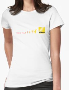 Nikon vs Canon Womens Fitted T-Shirt