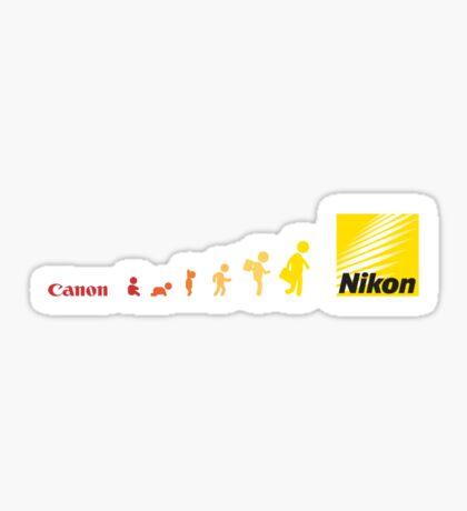 Nikon vs Canon Sticker