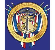 Columbia Security Coat of Arms Photographic Print