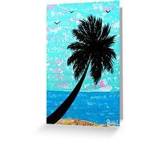 """Island Seascape-Blue"" Greeting Card"