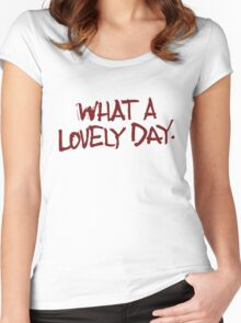 Oh, what a day... what a lovely day! Women's Fitted Scoop T-Shirt