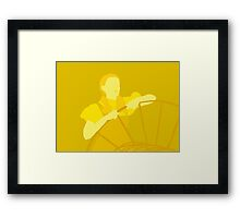 Judy in Yellow Framed Print