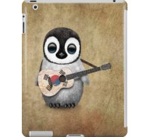 Baby Penguin Playing South Korean Flag Guitar iPad Case/Skin