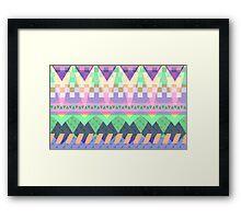 geo dance Framed Print