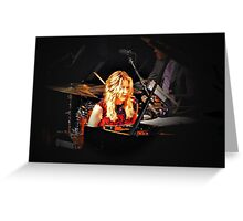 Diana Krall in concert Greeting Card