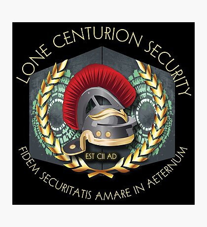 Lone Centurion Security Photographic Print
