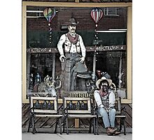 Storefront Cowboys Photographic Print