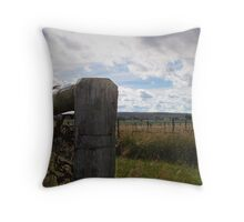 Vineyard Row Throw Pillow