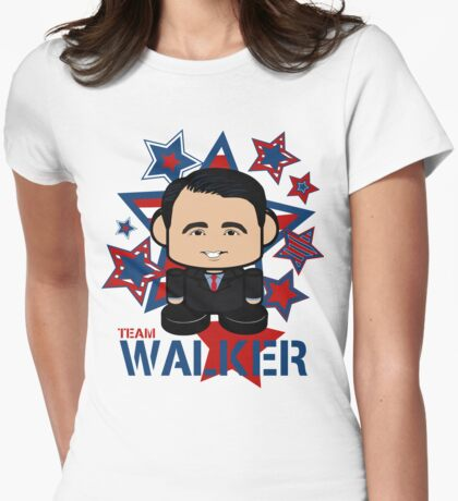 Team Walker Politico'bot Toy Robot Womens Fitted T-Shirt