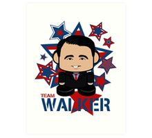 Team Walker Politico'bot Toy Robot Art Print