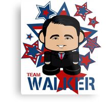 Team Walker Politico'bot Toy Robot Metal Print