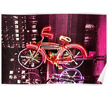 Neon Bicycle Take One Poster