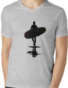 Winter Surfer Mens V-Neck T-Shirt