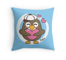 Cartoon penguin popo Throw Pillow