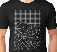 Abstraction Grid White Unisex T-Shirt