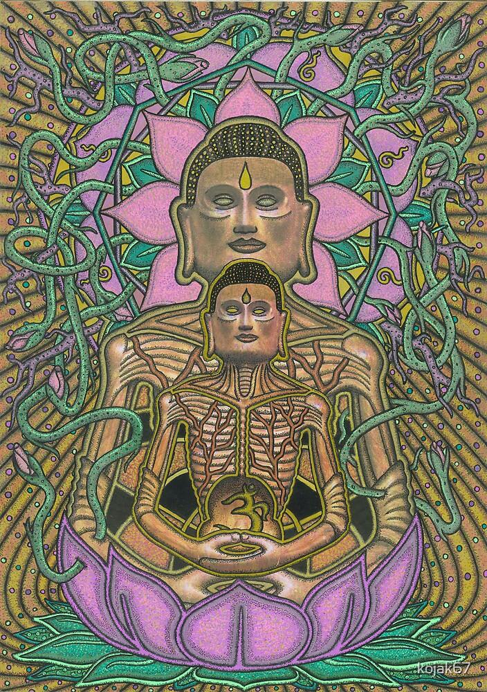 Ascetic Buddha, Ink & Pencil by RIYAZ POCKETWALA