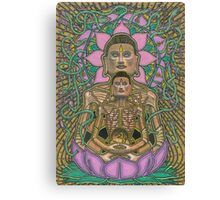 Ascetic Buddha, Ink & Pencil Canvas Print