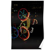 Neon Bicycle  Poster
