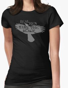 Real Men Take the Black Womens Fitted T-Shirt