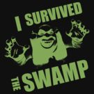 I Survived the Swamp - Black Tee by illuminatim