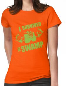 I Survived the Swamp - Black Tee Womens Fitted T-Shirt