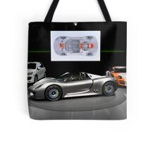 World Premier viewing of the new Porsche 918 Spyder  Tote Bag