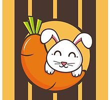 Rabbit & Carrot by snowicy